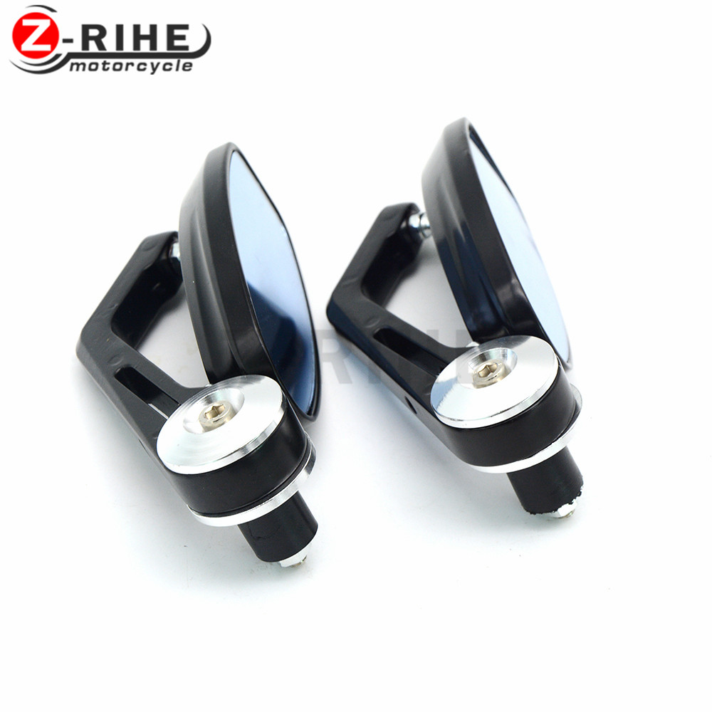 """for 7/8"""" 22MM Handlebar Motocycle Rearview Mirrors Aluminum Alloy Motor Side Mirrors Accessories For KAWASAKI Z800 2013 2014 201"""