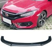 UHK Accessories For Honda Civic 10th Carbon Fiber Front Bumper Lip Spoiler Diffuser Splitter Car Bumper Protector