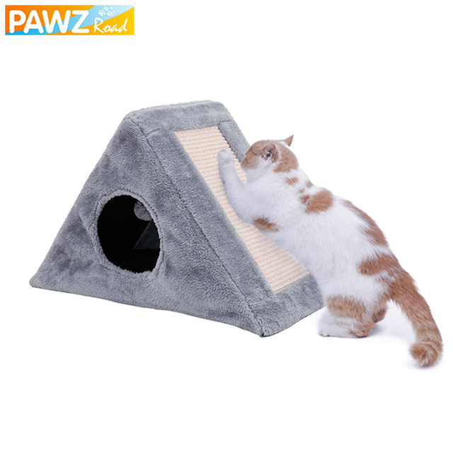 Cat Scratching Post With Toy Foldable Easy to Pack Cat Favor Toys High Quality Multifunctional Cat Nest House Bed Cat Furnture