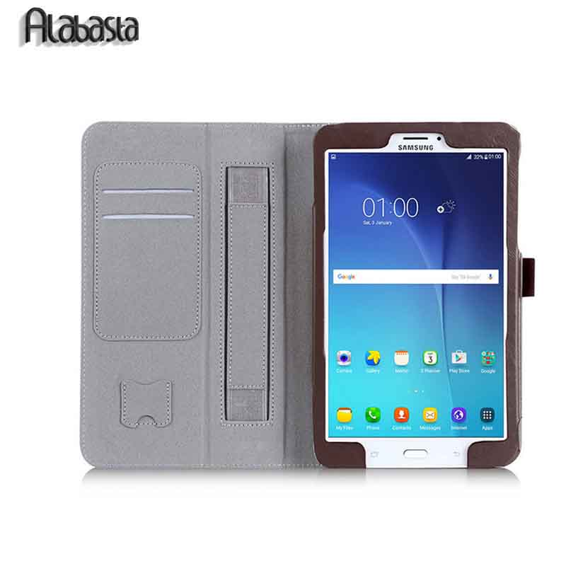 Tab S 2 9.7 Smart Cover Case Alabasta Triple Folding Flip PU Leather Case For Samsung Tab S2 9.7 T810 T815 Hand Holder Strap ultra thin smart flip pu leather cover for lenovo tab 2 a10 30 70f x30f x30m 10 1 tablet case screen protector stylus pen