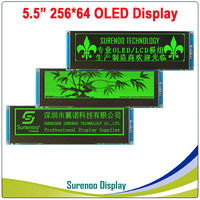 Real OLED Display, 5.5 256*64 25664 Dots Graphic Serial SPI LCD Module Display Screen LCM Screen SSD1322 Controller in 3.3V