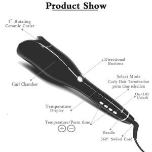 Image 4 - אוטומטי ספירלת שיער קרלינג ברזל שיער Curler שרביט תלתל מתולתל מסתובב קסם מגהצים סלון סטיילינג כלים טיטניום שיער רולים