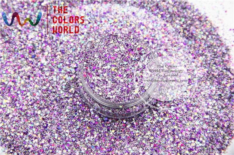 HAC2042-304 Mix Cor Forma de Hexágono Glitter