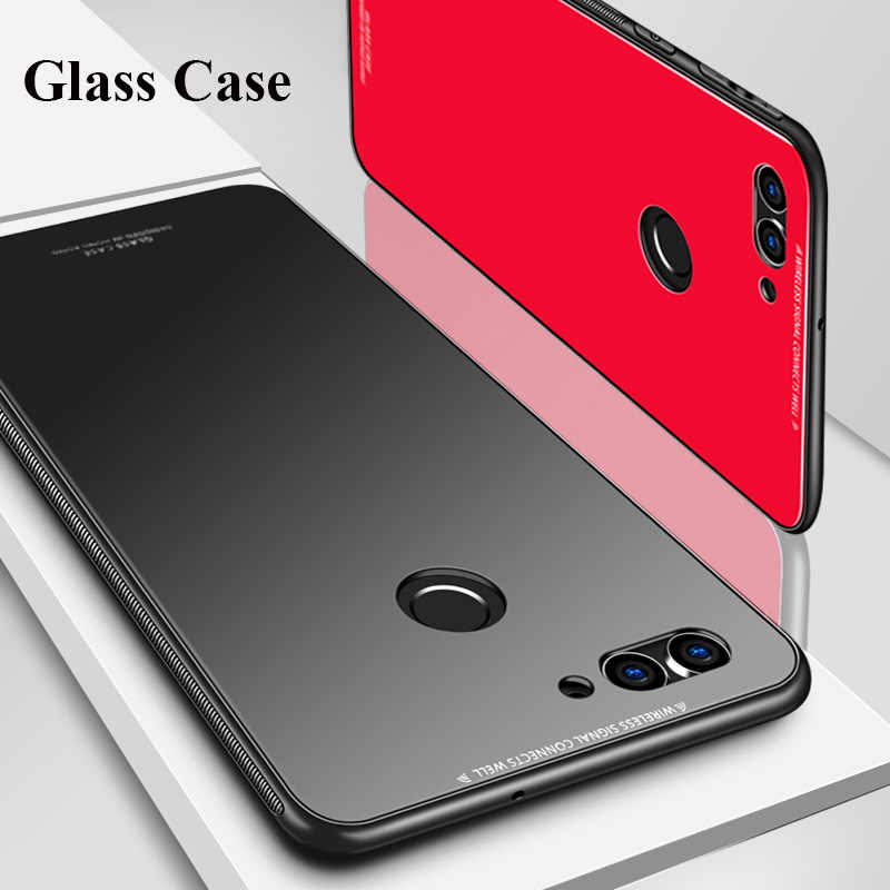 Shockproof Hybrid Glass Case For Huawei Honor 10 Honor 9 Soft Bumper Frmae+Back Tempered Glass Case Cover Huawei Honor 9 Lite 8X