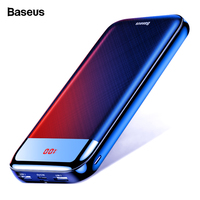 Baseus 20000mAh Power Bank For iPhone Xiaomi mi 9 20000 mAh Portable Charger Powerbank USB C Fast External Battery Poverbank