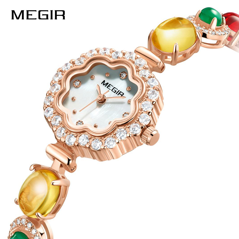MEGIR Women Fashion Luxury Quartz Wristwatches Lady Top Brand Watches Waterproof Watch Lover Girl Clock Female Relogio Feminino 2017 new top fashion time limited relogio masculino mans watches sale sport watch blacl waterproof case quartz man wristwatches