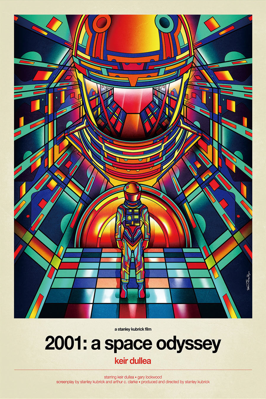 24x36 2001 A Space Odyssey Lockwood NEW 1968 Movie Poster - Keir Dullea