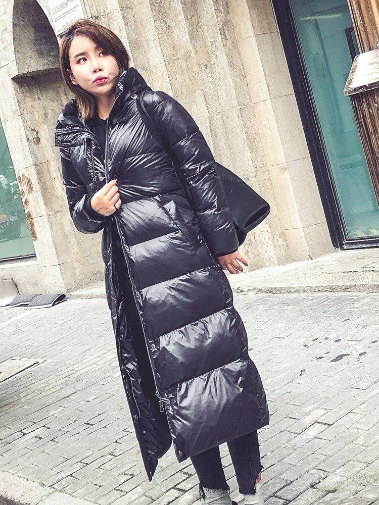 2018 Parka Canard Duvet De Veste À Coupe Femme Lx2546 Mujer Chaud Black Hiver Manteau vent Longue Épaissir Doudoune Capuche Femmes XwFSPqPx