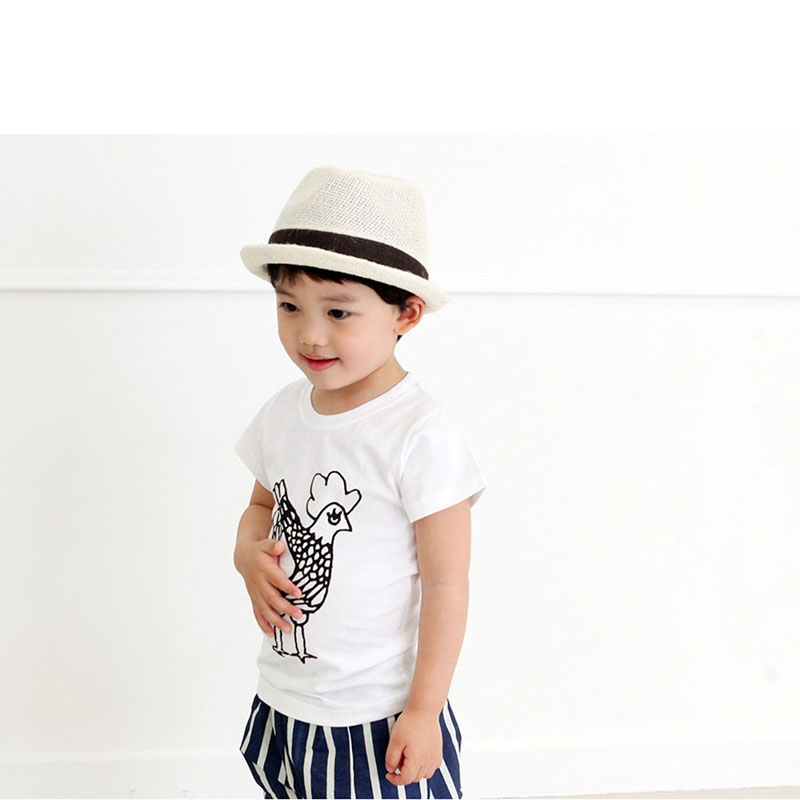 2-7Y-Kids-Toddler-Boys-Short-Sleeve-Cotton-T-shirt-Summer-Pullover-Tee-Tops-B998-2