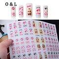 New 3d Art Nail Stickers Decalques Bonito Princesa Folha Adesiva Nail Polish Dicas Wraps Decoração Manicure DIY Suprimentos Unhas