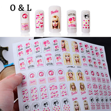 New 3d Nail Art Stickers Decals Cute Princess Adhesive Foil Polish Nail Tips Wraps Decoration DIY Manicure Nail Supplies