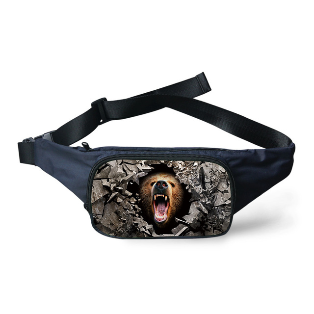 ec6f9e9d7c25 Hot Men Casual Waist Bag Zoo Animal Tiger Bear Print Belt Bag Purse  Adjustable Waist Pack for Men Women Boys Fanny Pack Bag-in Waist Packs from  ...
