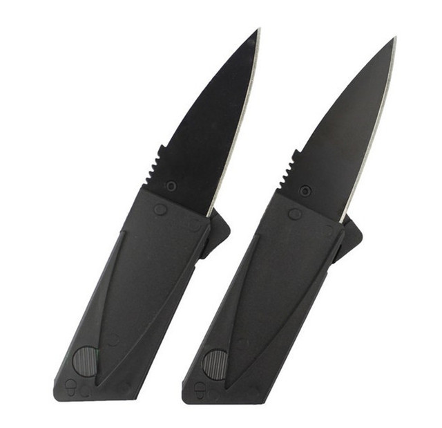 Fold Survival More Function Folding Cutting Tool Saber Card Tactical Plastic Bottle Cutter  Pocket Knife