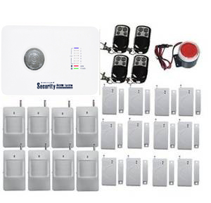 YobangSecurity Wireless Home Office Security Alarm System GSM Dialer PIR Motion Detector Door Window Sensor with Remote Control pir motion sensor alarm security detector wireless ceiling can work with gsm home alarm system 6pcs cpir 100b