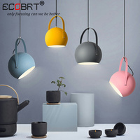 Modern LED Pendant Lights Colourful Dining Room Restaurant Pendant Lamps Electric Wire Home Decration Lighting Fixtures