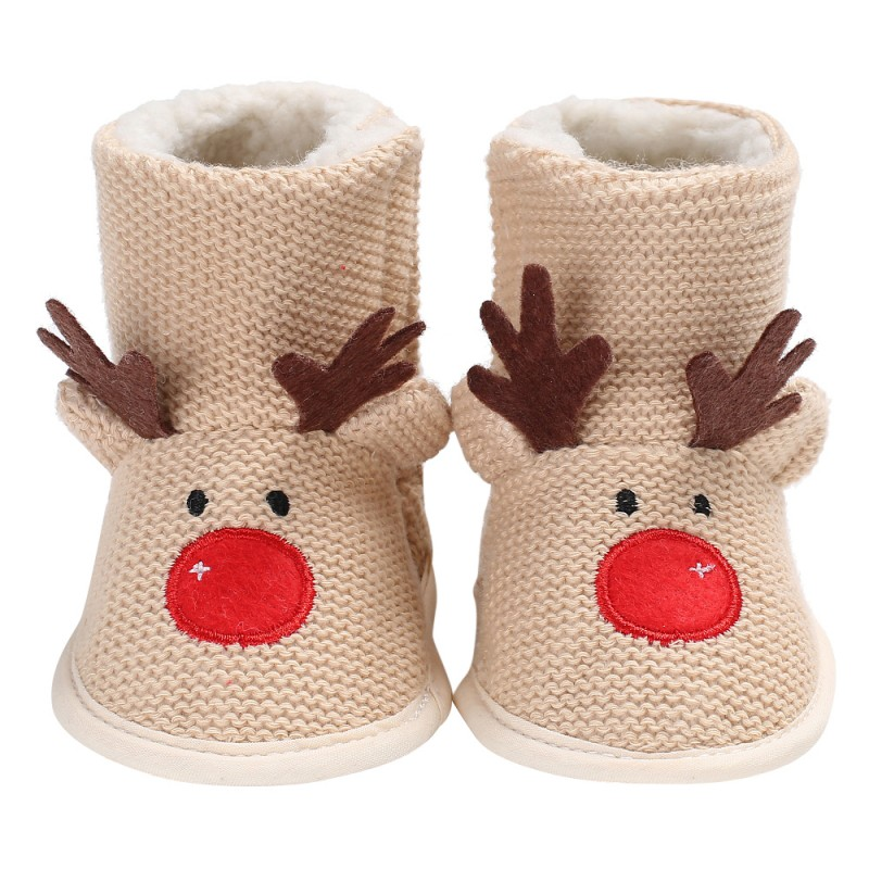 Super Warm Winter Baby Boy Shoes First Walkers Knitted Sweaters Boots Booty Crib Babe Girls Toddler Boy Shoe For 0-1Y Baby