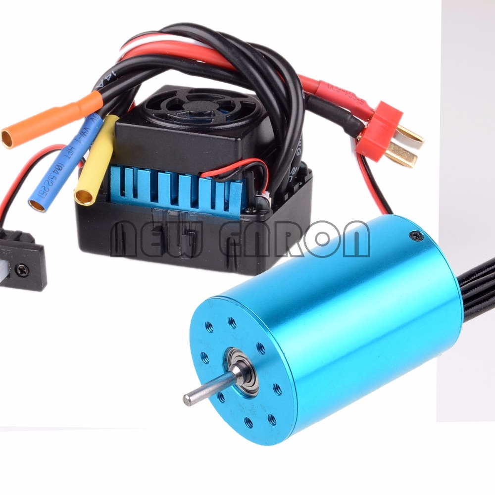 NEW ENRON RC CAR 1:10 Brushless ESC 60A 37017 (03307) Motor 3300KV 03302 107051 Lipo RC S10(60A)-107051B For HSP 1/10 цена