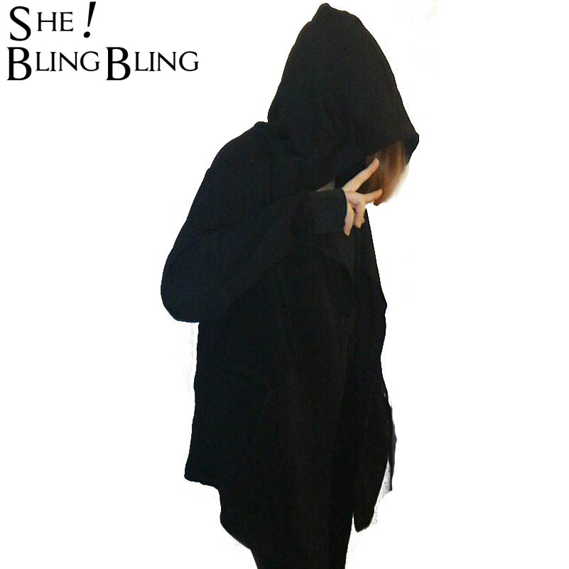 Women Hooded With Black Gown font b Best b font Quality Hip Hop Mantle Hoodies and