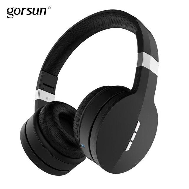 Casque audio sans fil Bluetooth casque supra-auriculaire stéréo pliable léger avec mémoire douce-cache-oreilles en protéines pour téléphones Gorsun E88