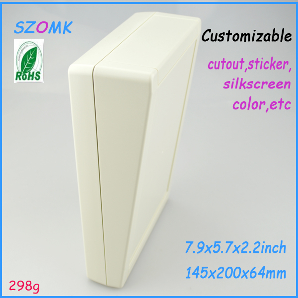 wall mount plastic project box 200*145*64mm 7.9*5.7*2.2inch molded plastic electronic enclosure