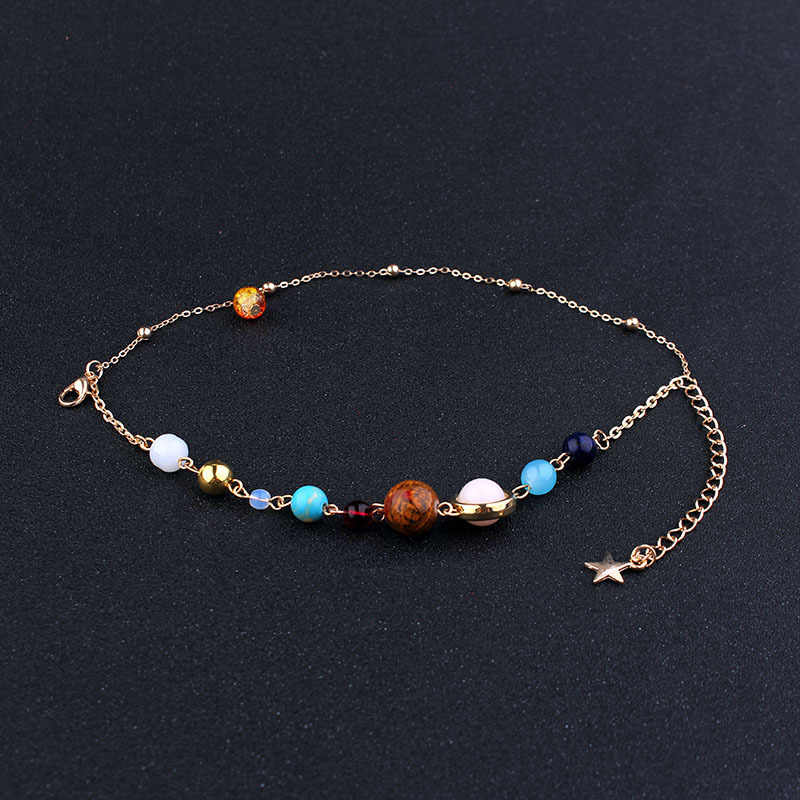 Universe Galaxy the Eight Planets Solar System Beads Bracelet Energy Star Natural Stone Chain Bracelet Bangle for Women Gift