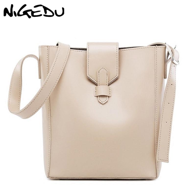 Simple Women Bucket Shoulder Bag Female PU Leather Woman Handbag Large Capacity Composite Bag Designer Casual big Tote Bags shoulder bag
