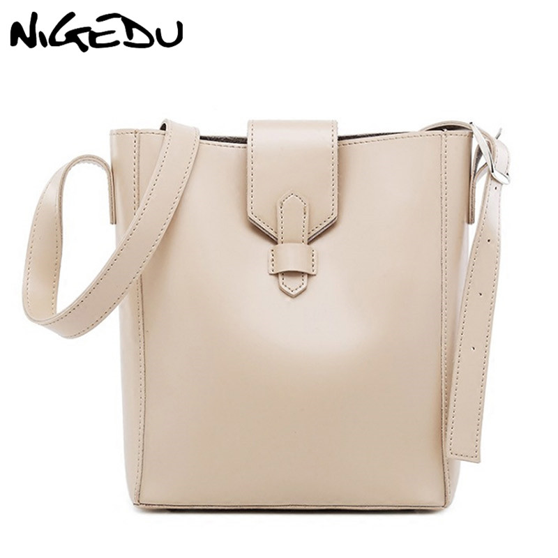 423ddc1e90 Simple Women Bucket Shoulder Bag Female PU Leather Woman Handbag Large  Capacity Composite Bag Designer Casual big Tote Bags-in Shoulder Bags from  Luggage ...