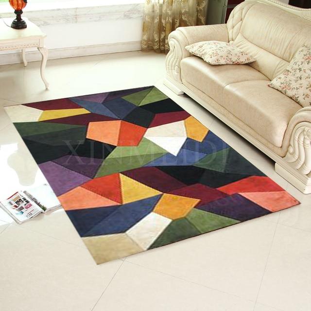 Акрил геометрический узор ковра alfombras современный ковры ручной работы гостиной Спальня модные креативные Кофе столик диван Tapete