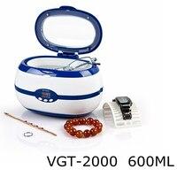 Mini Ultrasonic Cleaner Jewelry Eyeglass Watches Dental Cleaner Cleaning Machine Household Ultrasonic Bath EU/US Plug 600ml 35W