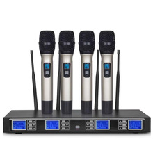 Professional UHF wireless microphone four-channel microphone karaoke / conference room / outdoor performance high end uhf 8x50 channel goose neck desk wireless conference microphones system for meeting room