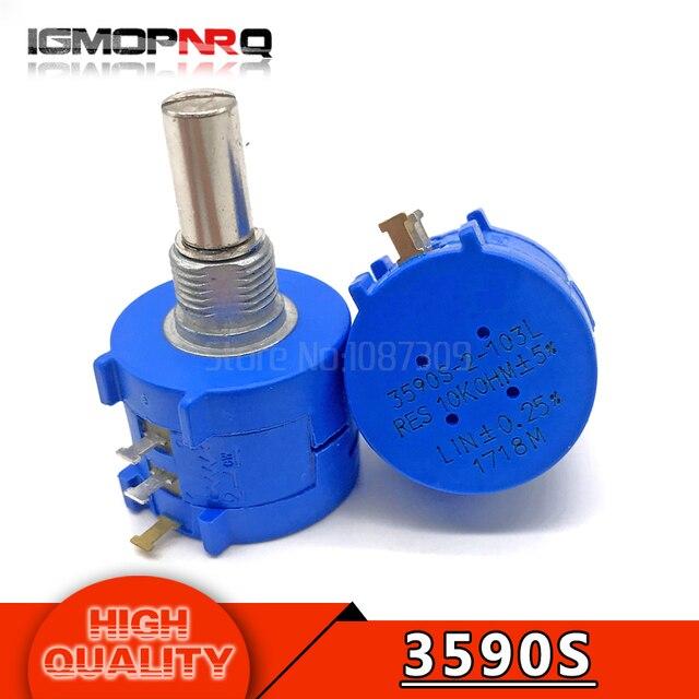 3590S-2-103L 3590 S 10 K-омовая точность многооборотный потенциометр 10 кольцо регулируемый резистор