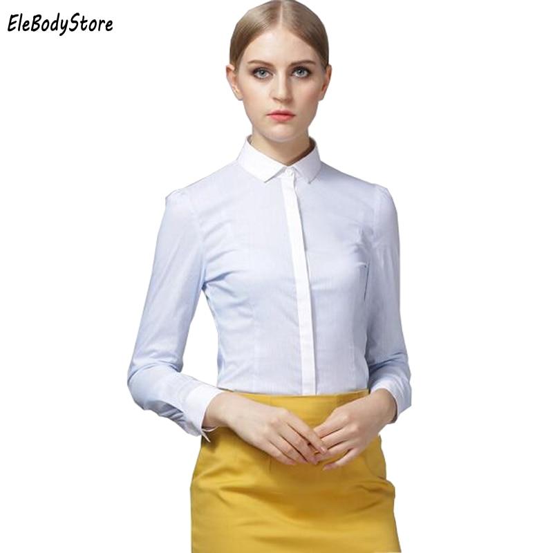 2018 Blouse Body Shirt Women Blouses Tops Fashion Long Sleeve Slim Casual White Shirts Collar Formal Shirts For Woman Work Tops