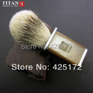 Titan razor brush   best badger hair  with green algum wooden handle  brush could OEM woll diamond titan best 1724tb