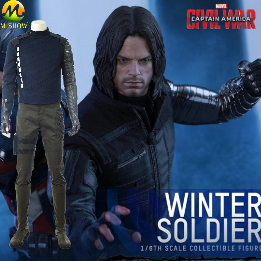 Avengers Infinity War Winter Soldier Cosplay Costume Bucky Barnes Cosplay Full Set For Halloween Custom Made