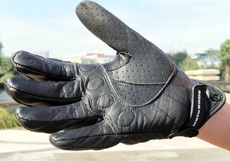 Hot Sales UB real Leather Pursuit Motorcycle Gloves Touch Screen Men Women Moto Gloves Electric Bike Luvas da motocicleta in Gloves from Automobiles Motorcycles