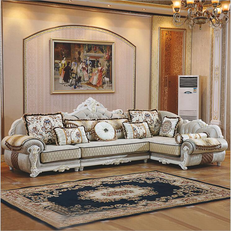 где купить living room furniture modern fabric sofa European sectional sofa set a1255 по лучшей цене
