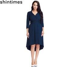 shintimes 5XL Plus Size Dress Womens Clothing 2019 Korean Fashion Pleated Dresses Woman Party Night V-Neck Robe Sexy Black