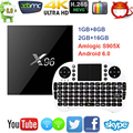 X96 Android 6.0 TV Box Amlogic S905X Макс 2 ГБ RAM + 16 ГБ ROM Quad Core WIFI HDMI 4 К * 2 К HD Smart Set Top BOX Media плеер
