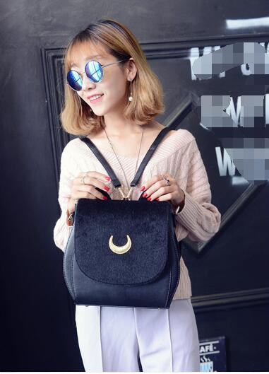 Fashion Cat Ears Sailor Moon Bag Samantha Vega Black Women Shoulder Bags Crossbody for Girl Messenger Fur borsa