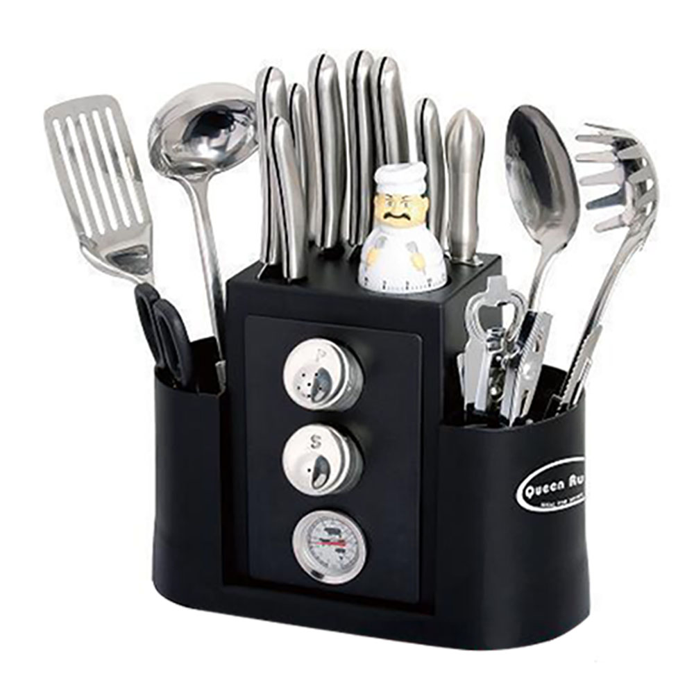 20PCS/23PCS Stainless Steel Cooking Utensil Sets Kitchen Gadget Sets Knife Spoon Spatula Opener Kitchen Accessories Tools
