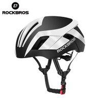 ROCKBROS EPS 반사 형 사이클링 헬멧 3 in 1 스타일 MTB 도로 자전거 남자 안전 라이트 자전거 헬멧 일체형 공압