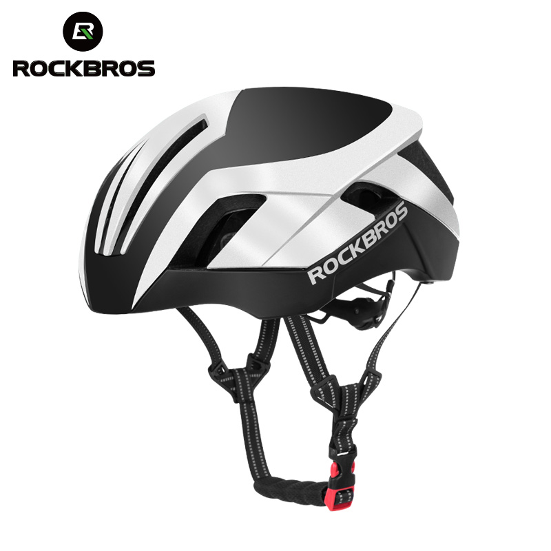 ROCKBROS EPS Réfléchissant Vélo Casques 3 dans 1 Style VTT vélo de route Hommes de lumière de sécurité disque de polissage Moulée Intégralement Pneumatique