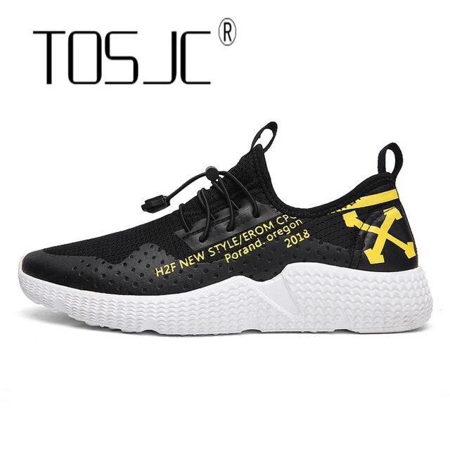 TOSJC модные Мужская обувь Лидер продаж дышащие Для мужчин повседневная обувь 2018 кроссовки Для мужчин обувь на плоской подошве корзины Homme