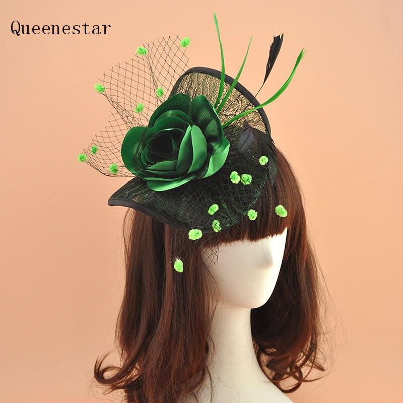 Feder Fascinator Hut Stirnband Haarblumen Haarband Hochzeit Brautschmuck
