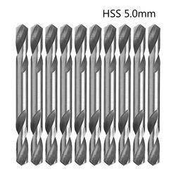 10 шт./лот 5 мм HSS Двухсторонние Спираль кручения Дрель Инструменты Набор Дрель