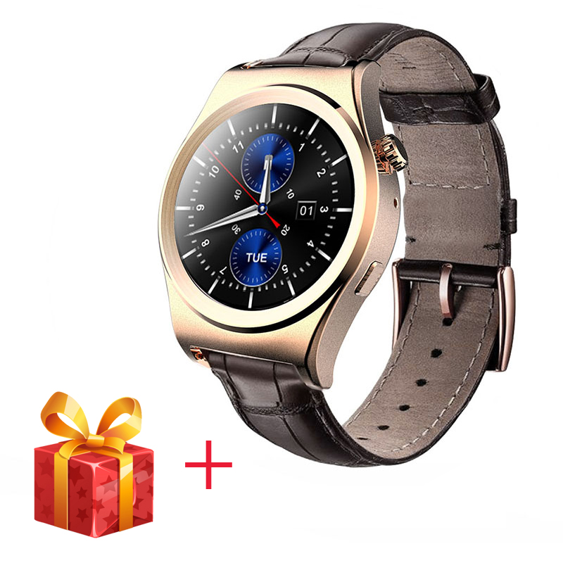 ФОТО New Fullly Rounded Smart Watch X10  Suppors Heart Rate Monitor Sedentary Remind Bluetooth 4.0 Leather Smartwatch For Android IOS