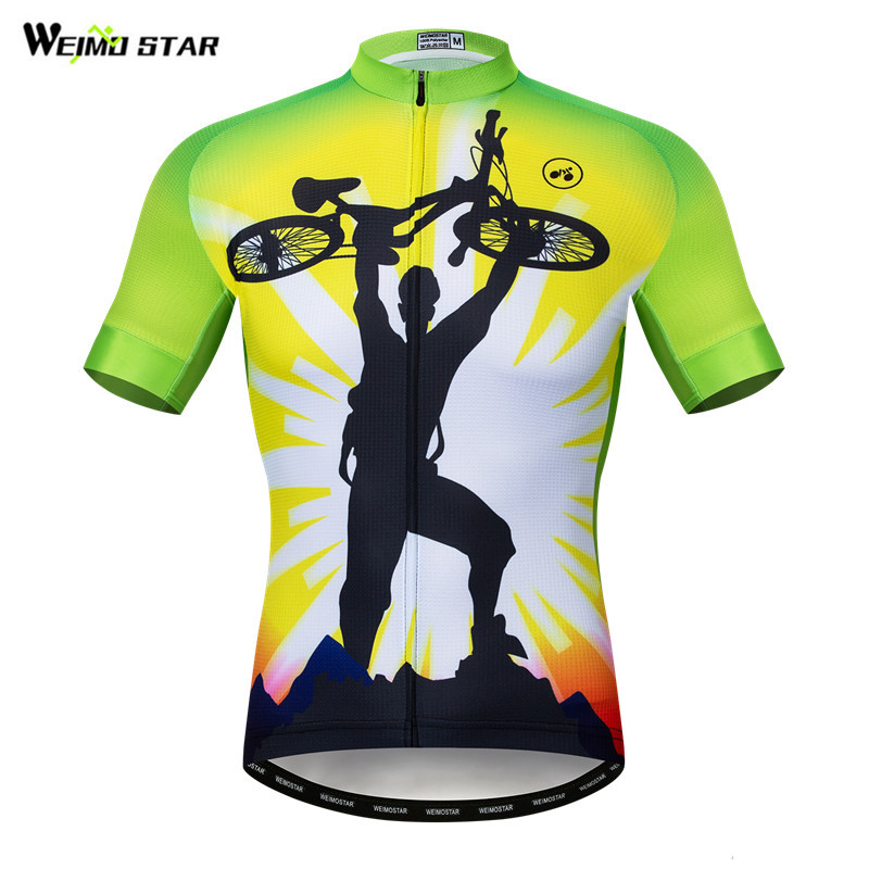 Weimostar Pro Mountain Bike Clothing Summer Short Sleeve Cycling Jersey Men Breathable Bicycle Jerey Shirt Wicking Cycling Wear