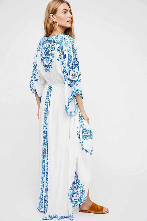 2018 femmes d'été longue robe évider fleur Design blanc coton robe v-cou lâche large manches Maxi robe Boho Chic robe