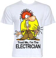 MENS FUNNY COOL NOVELTY ELECTRICIAN SPARKY NEW JOB T SHIRTS JOKE GIFTS PRESENTS Funny Clothing Casual