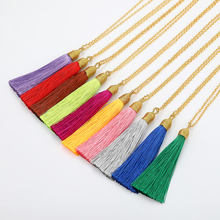 LOVBEAFAS Long Tassel Necklace Women Gold Chain 2018 Fashion Jewelry Boho Vintage Statement Fringe Bohemian Necklace Collier